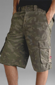 stylish camo cargo shorts