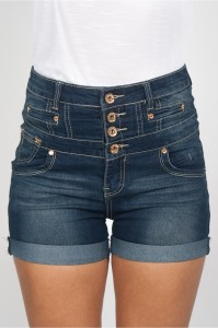 best high waisted denim shorts