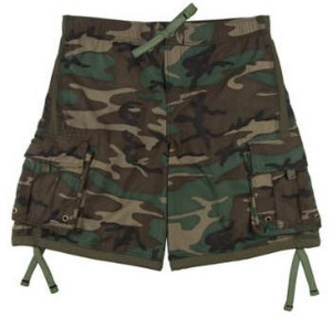 carrying camo shorts