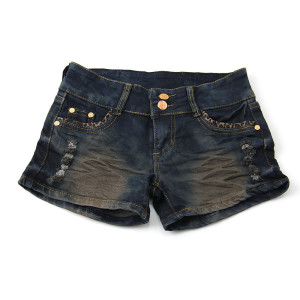 coated jean shorts for women