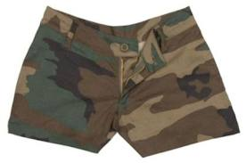 custom camouflage shorts women