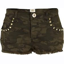 khaki camo shorts for women