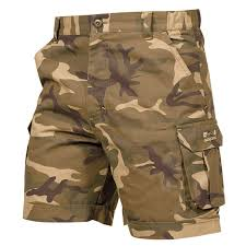 simple camouflage bermuda shorts for women