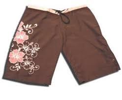 sporty long board shorts for women