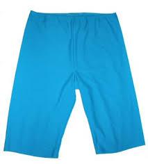 stitched long swim shorts for women