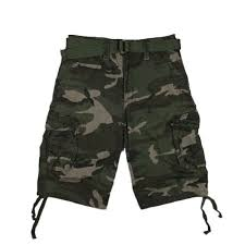 washed camo shorts