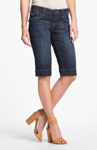 about denim bermuda shorts for women