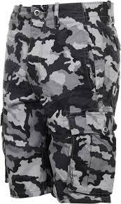 ace black camo cargo shorts
