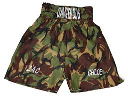 boxing camo shorts