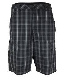 checkered wrangler cargo shorts for men
