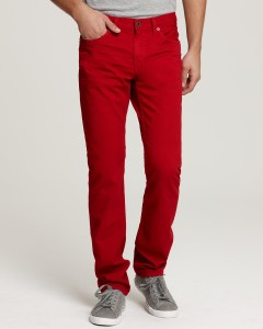 denim mens red jeans