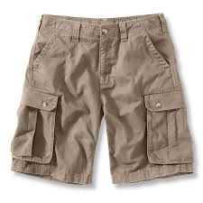 discounted khaki cargo shorts for men