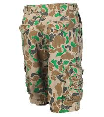 duck camouflage cargo shorts for men