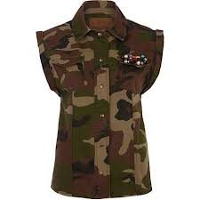 embellished camouflage shirts for women