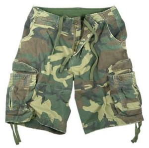 extreme camouflage cargo shorts
