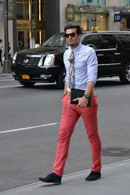 fashioned red jeans for men
