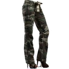 fitted camouflage jeans for women