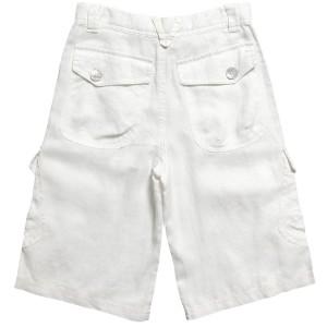 linen white cargo shorts for boys