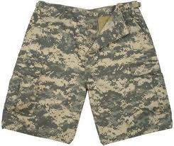 military style camo shorts