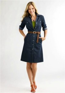 ordinary denim shirt dress