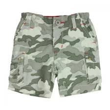 rugged and stitched camo shorts