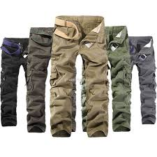 selected camouflage cargo pants for men