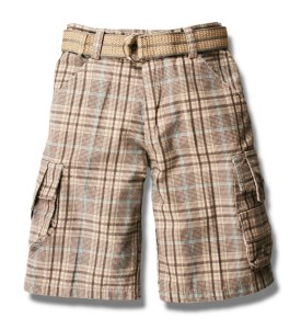 simple cargo shorts for boys