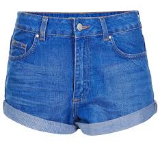 simple high waisted denim shorts
