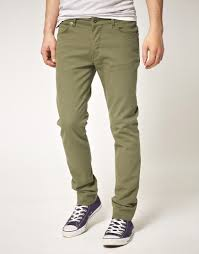 simple khaki skinny jeans for men