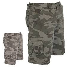 small and large camo shorts