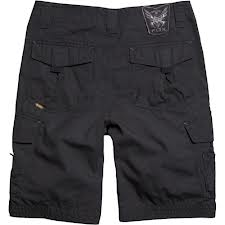 solid black cargo shorts for boys