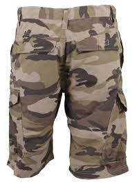 special and branded camo shorts