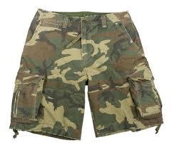 special design camo shorts