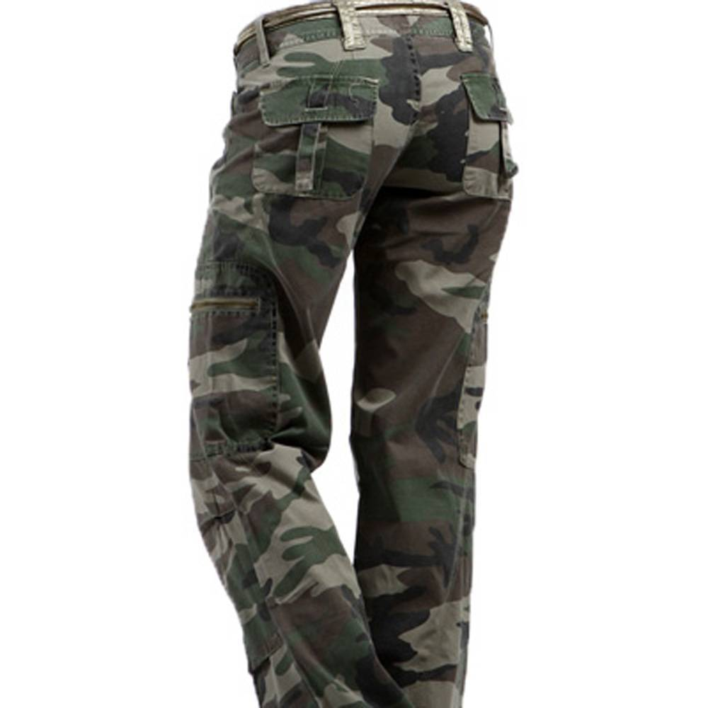 Elegant Womens Fashion Camo Pants
