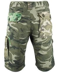 stitched branded camo shorts
