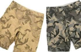 variety of camo shorts