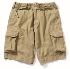 vintage khaki cargo shorts