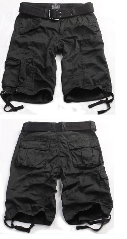 Black Cargo Shorts for Womens