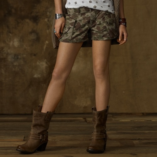 Get Stylis Womens Camo Cargo Shorts