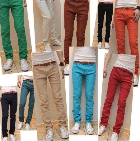 Top Quality Colored Skinny Jeans For Men