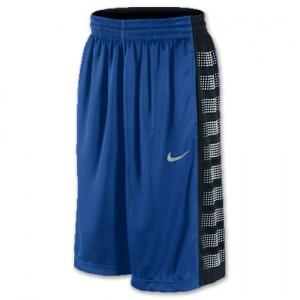 blue and black Nike elite basketball shorts