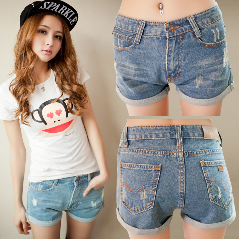 Gothic Women High Waist Denim Shorts. +1. 38% OFF. Women Blue Faded Denim Shorts. (1) +1. Frayed Hem Ripped Jean Shorts. +1. Checked High Waisted Bowknot Shorts. +1. Chiffon Pleated Wide Leg Shorts. +1. Ripped Frayed Hem Bleach Wash Jean Shorts.