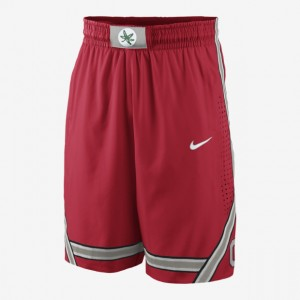 red nike college basketball shorts