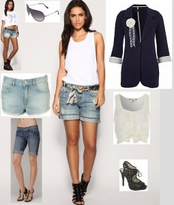 tips on what to wear with white shorts